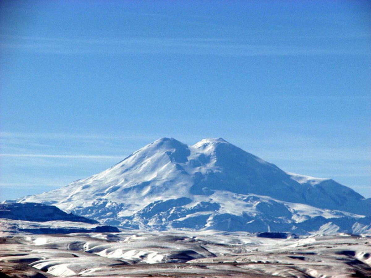 View of Mount Elbrus from Mount Mashuk