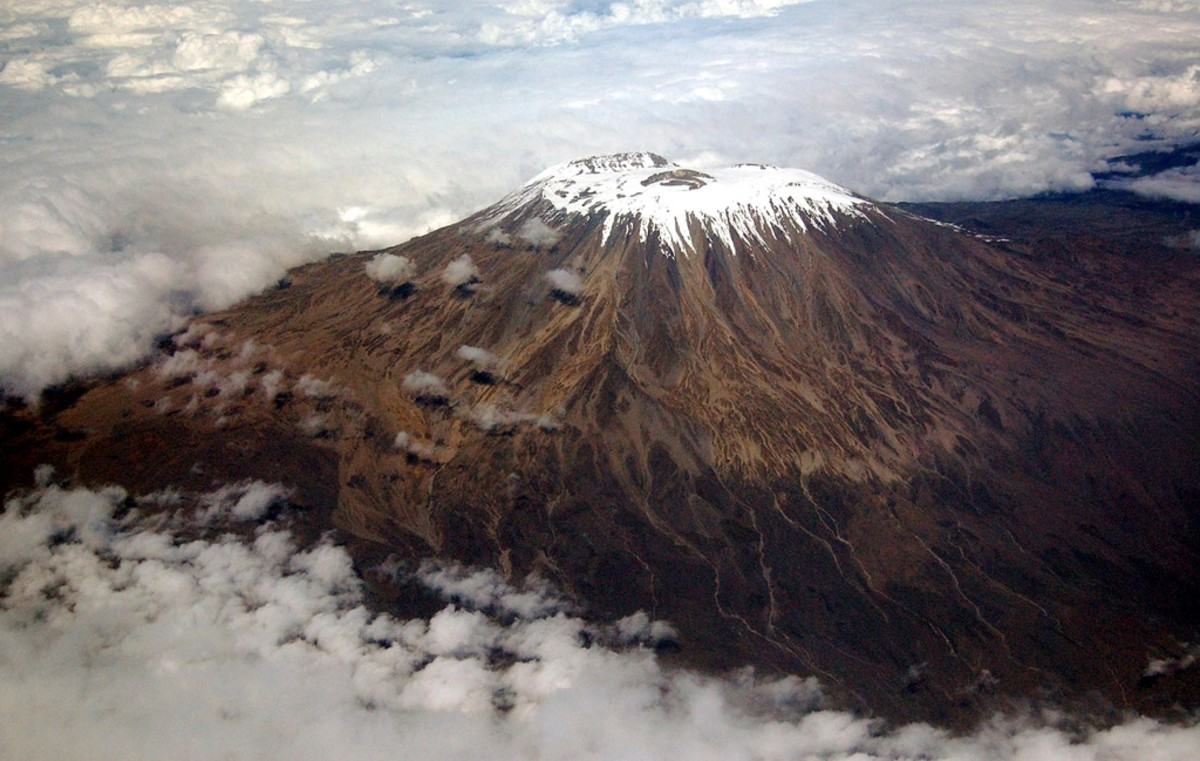 "Mount Kilimanjaro in Tanzania is one of the ""easier"" 7 summits to climb."