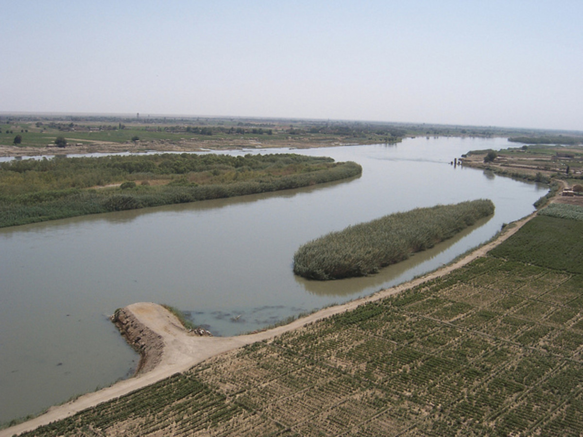 A view of The Euphrates River