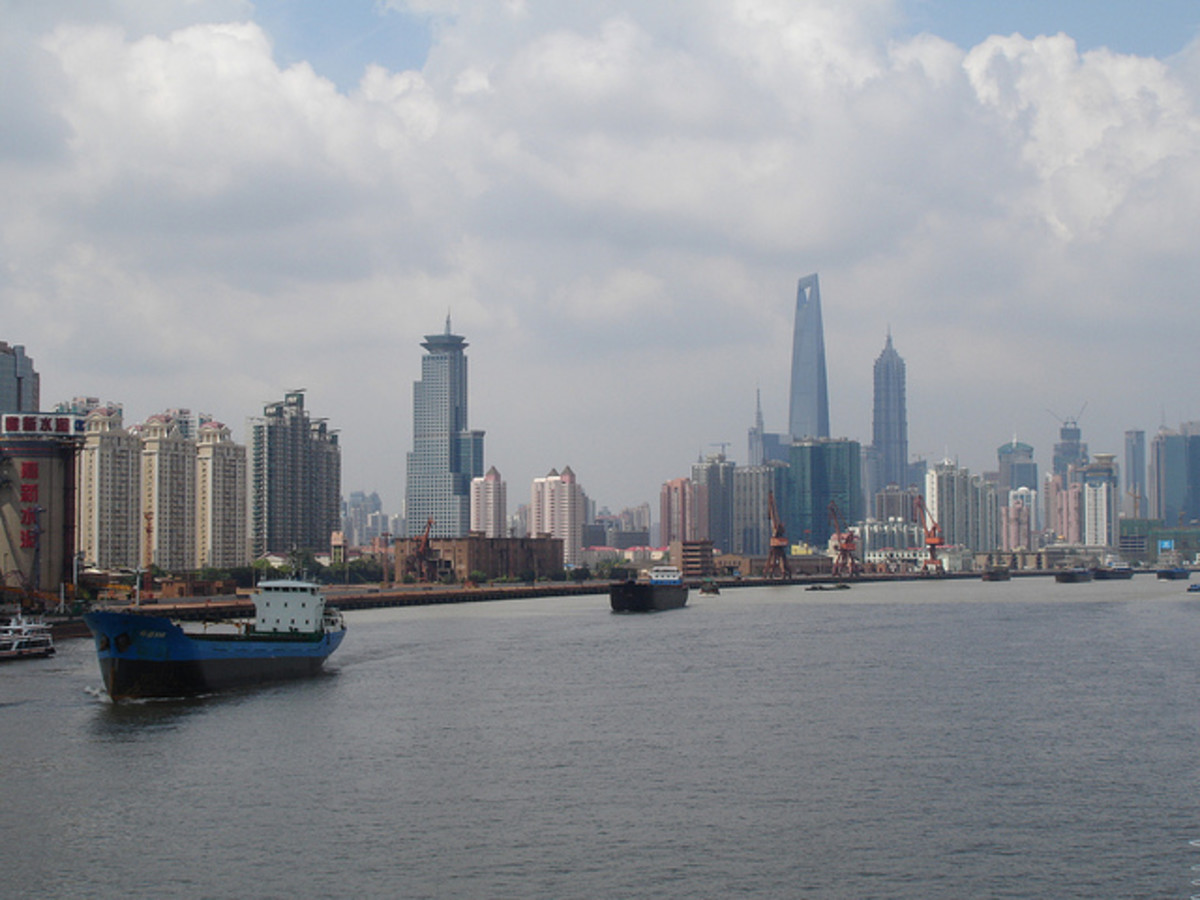 Yangtze River at Shanghai, China.