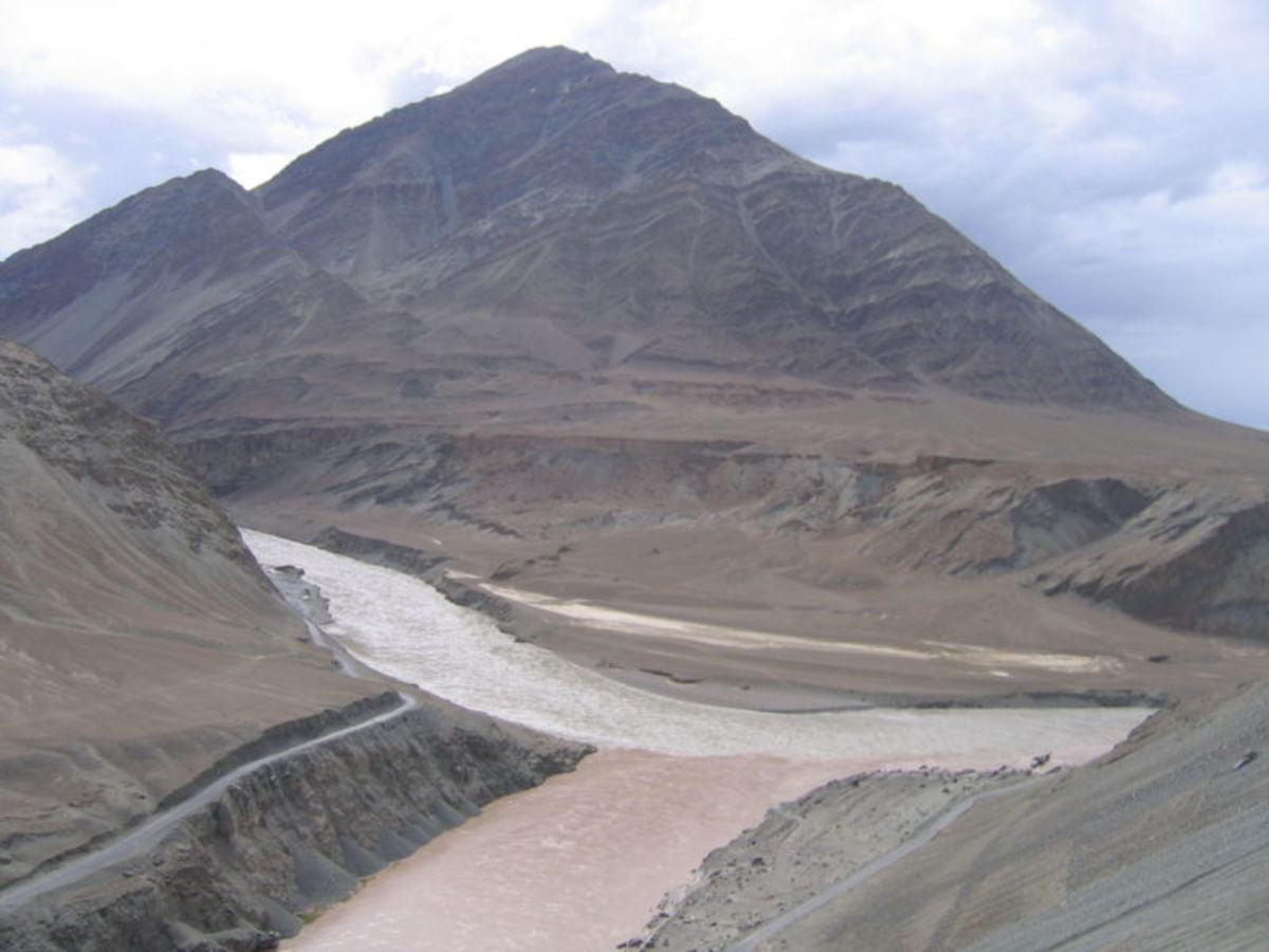 The Indus River on its journey to the Arabian Sea.