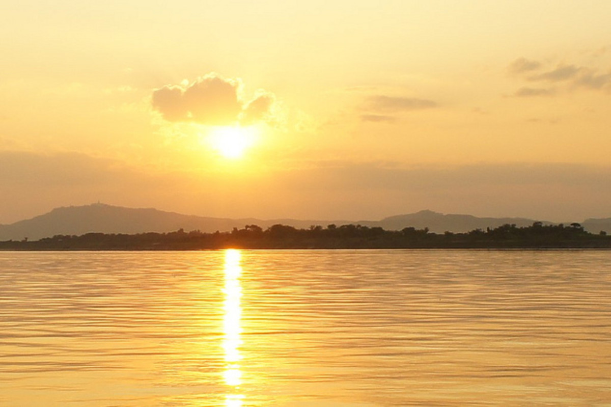 Sunset at Irrawaddy River