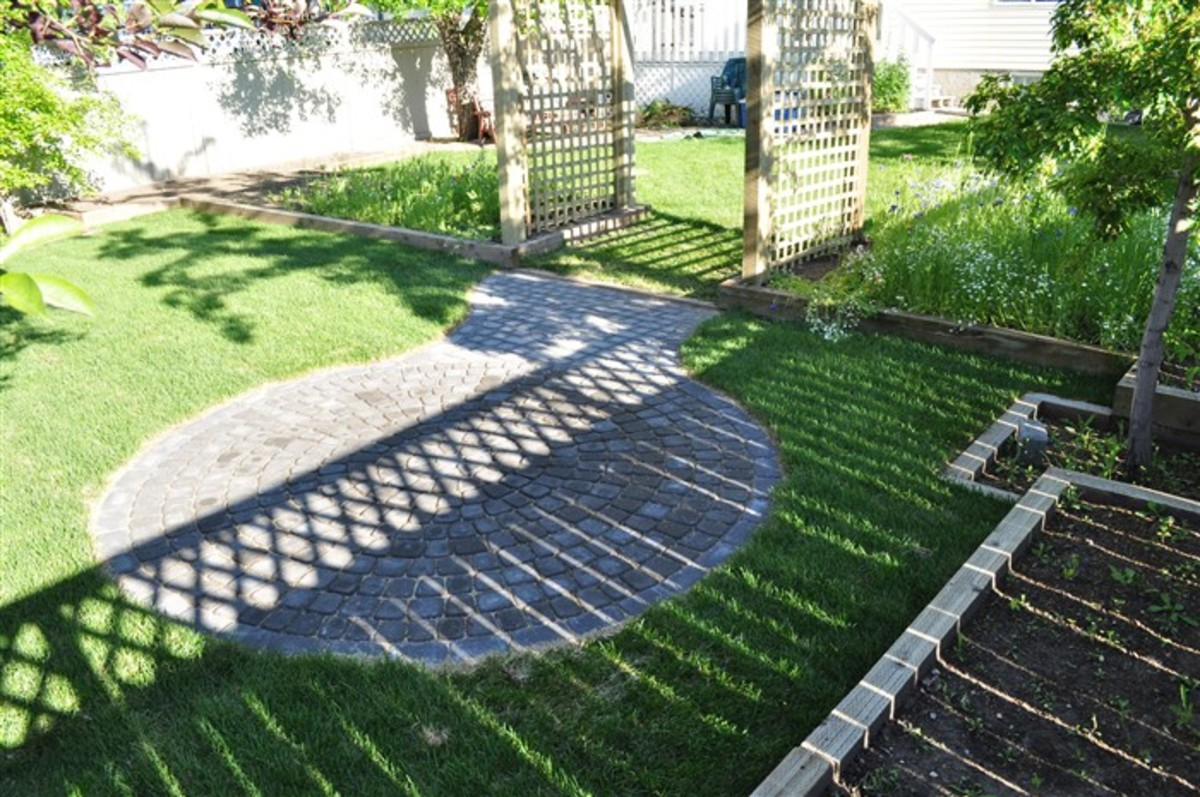 Be aware of light and shade in your Calgary paving stones design.