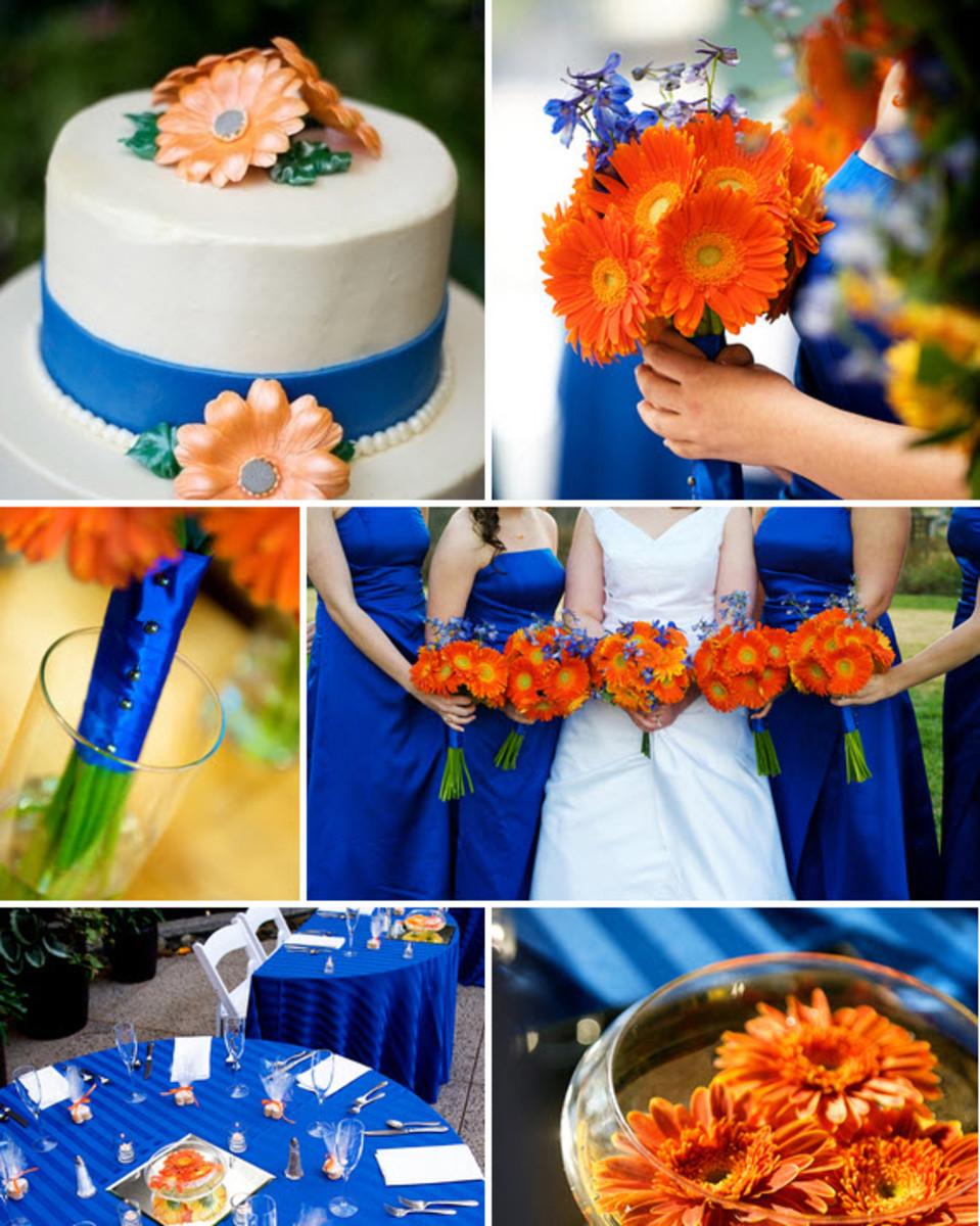 Wedding Decorations Blue And Orange : Festive blue and orange wedding ideas color combos