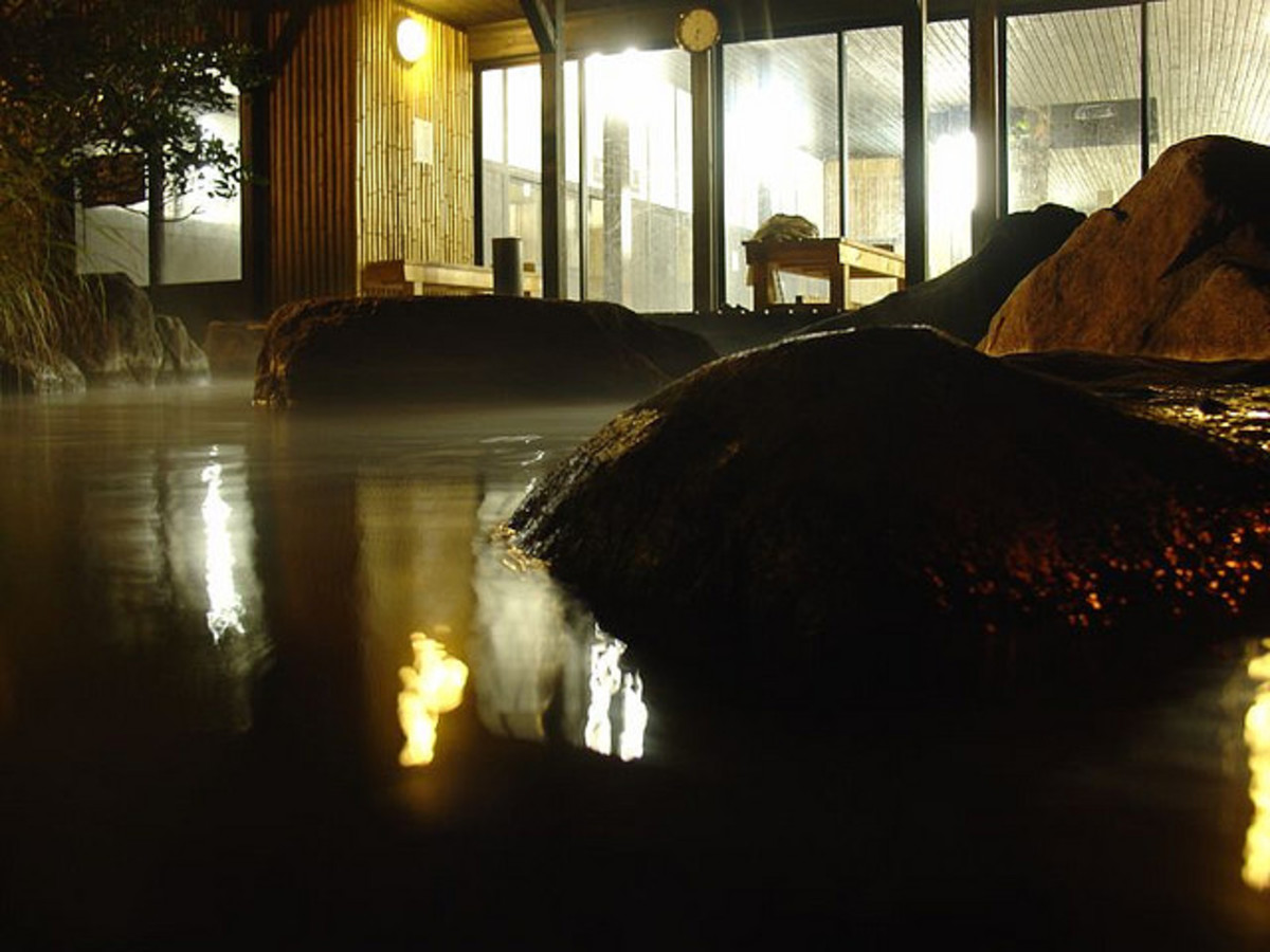 Hyotan Onsen outdoor bath