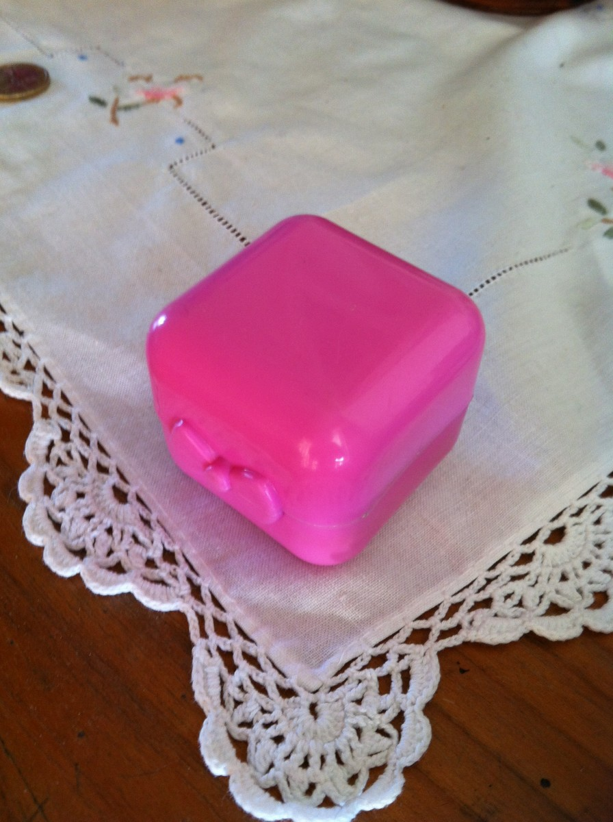 Little pink box for secrets