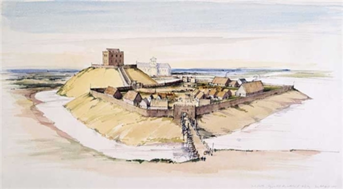 An early castle built by the Normans - this one was at York in the area of Coppergate