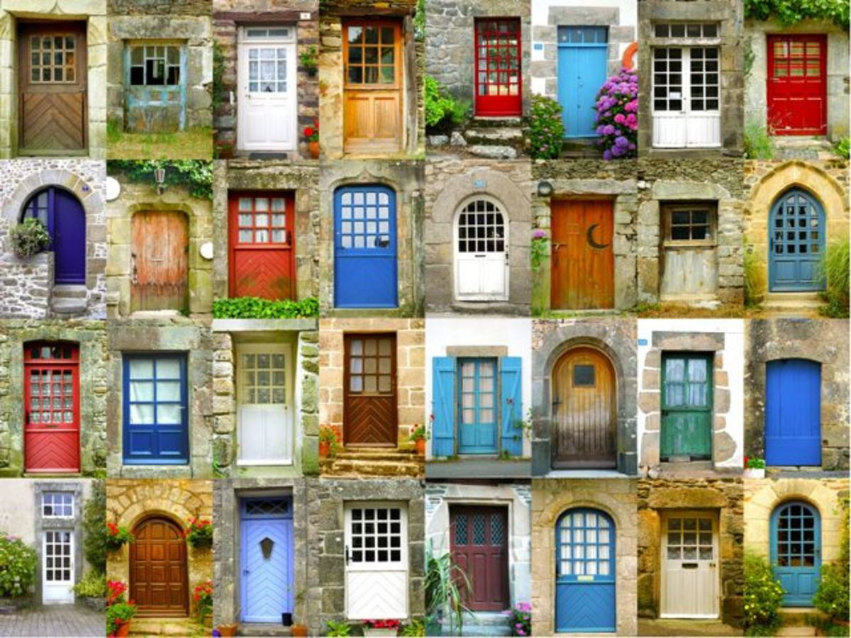Colorful and unobstructed front doors (Click to enlarge)