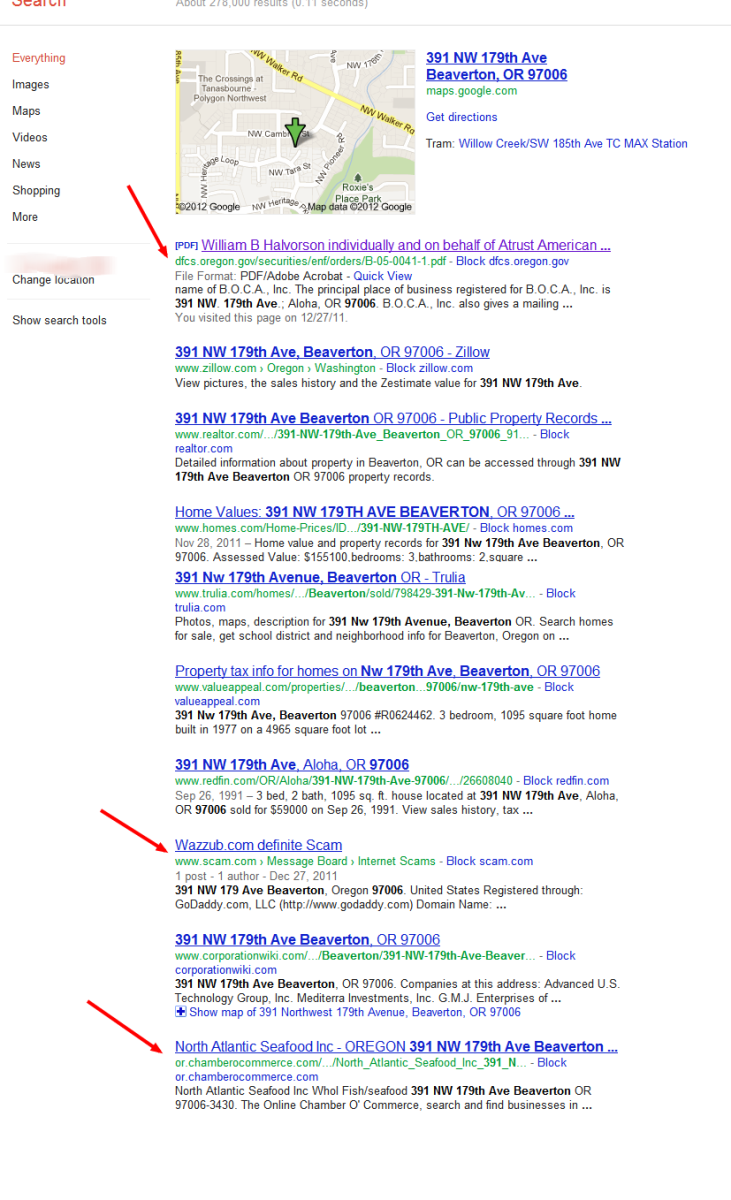 Google Search of Address has some interesting results which we will check