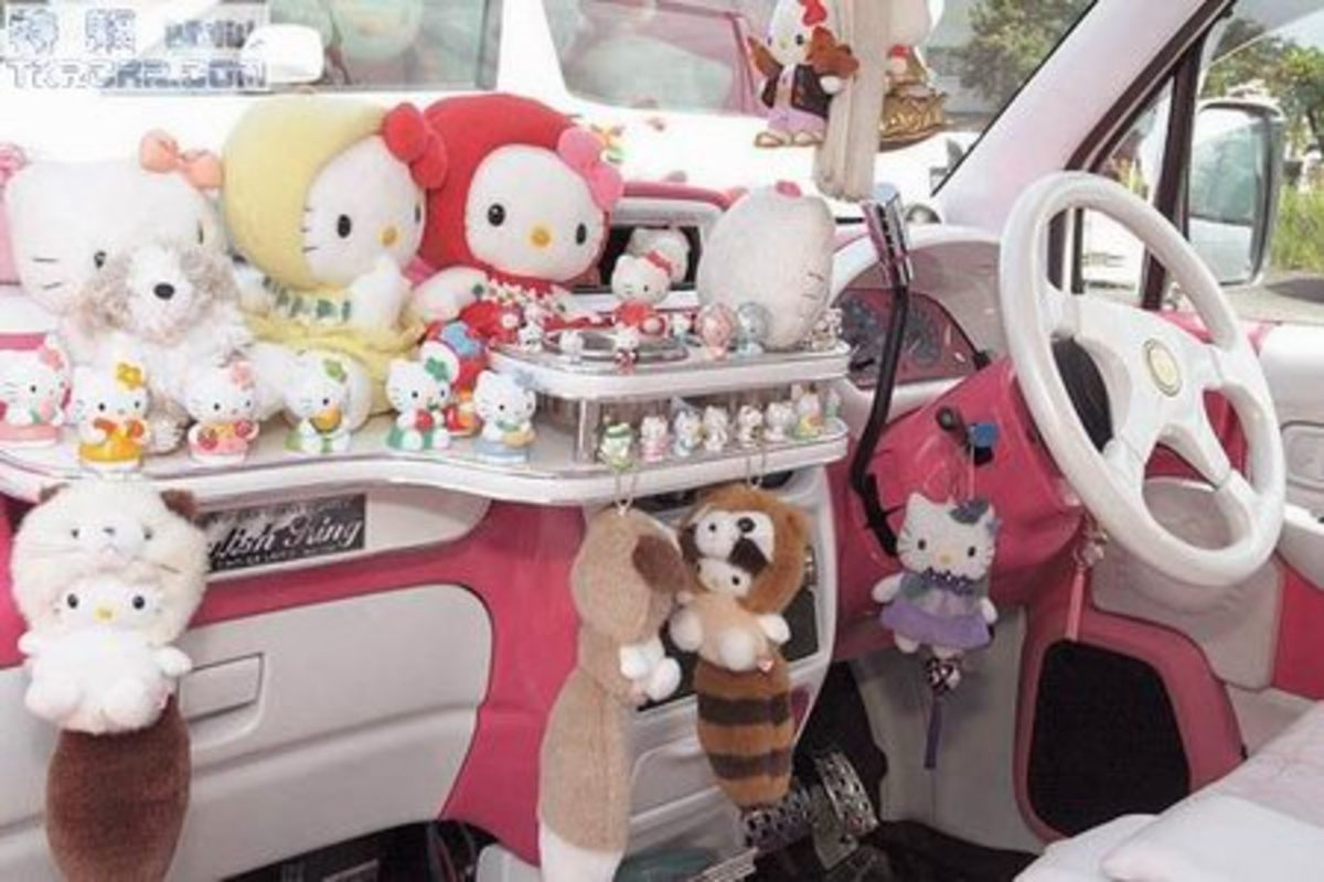 Some Women like to decorate their cars and create a girlie space.