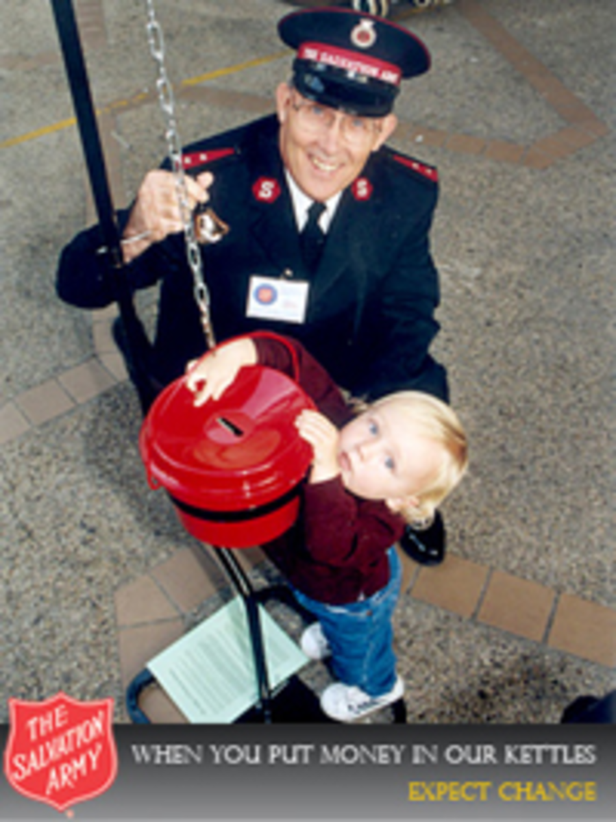 An example of free pictures provided by Salvation Army for customizing your page.