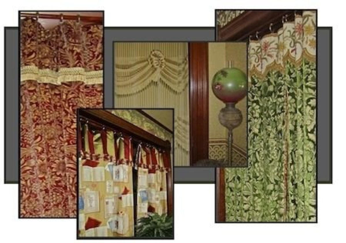All portiéres by the Restoration Decorating and Consulting division of Restoration Fabrics and Trims.