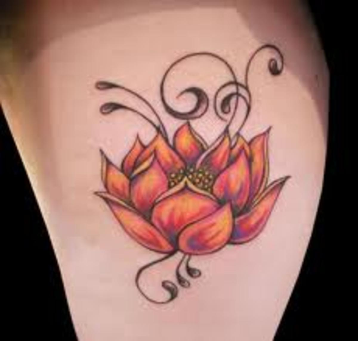 Lotus tattoo and lotus tattoo meanings lotus flower tattoo ideas source mightylinksfo Choice Image