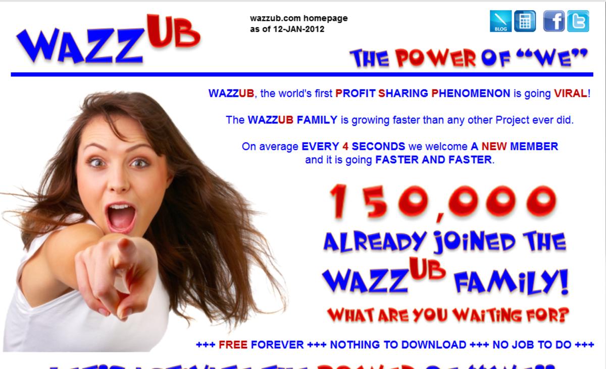 Wazzub.com snapshot dated 12-JAN-2012