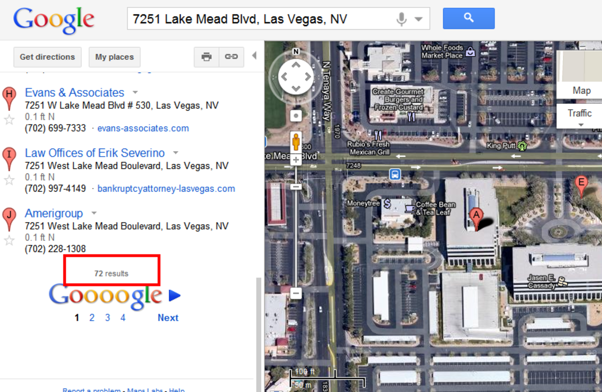 Address of 7251 Lake Mead Blvd. Las Vegas, NV. What does that mean?
