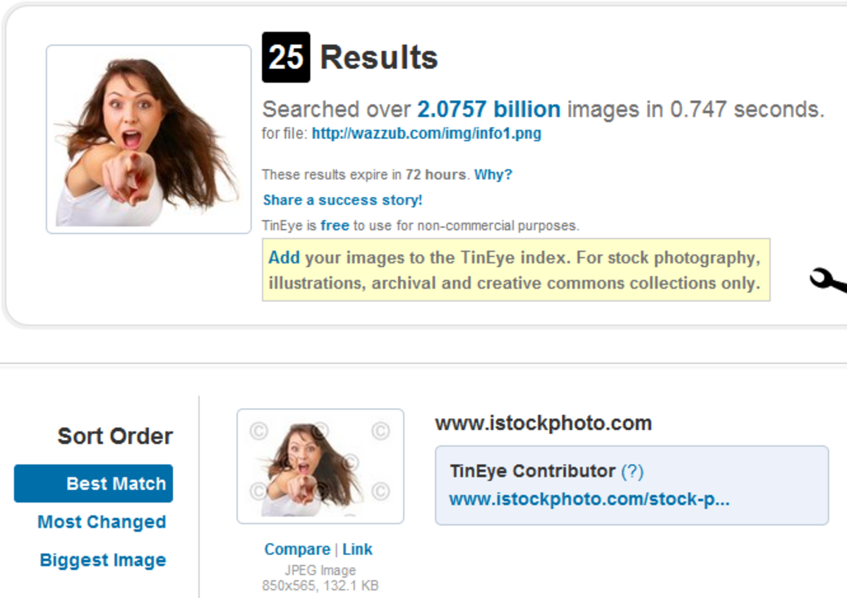 Pointing woman is stock photo