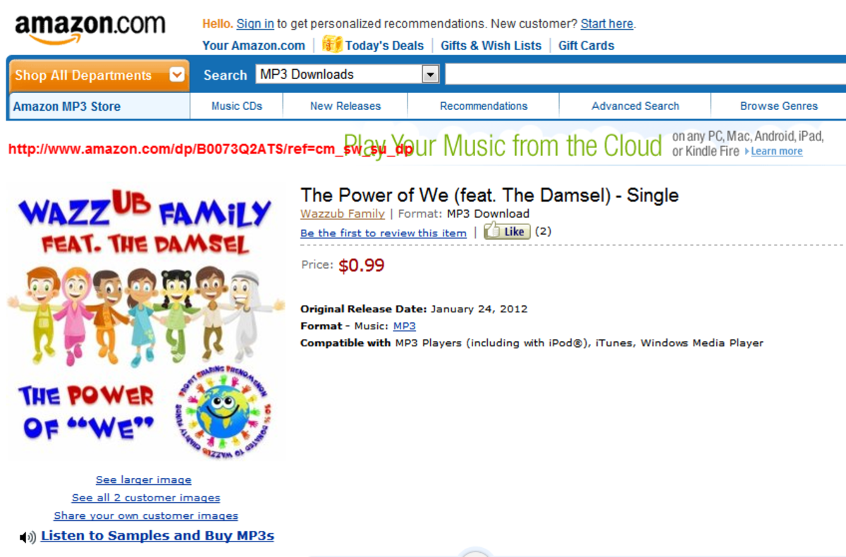 """The official Wazzub song, featuring """"The Damsel""""? Who's that?"""