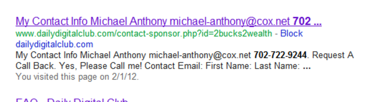 """The Wazzub phone number brought up """"Michael Anthony""""... who is that?"""