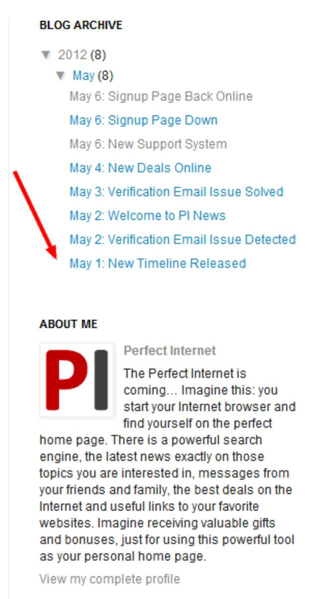 Perfect Internet News is free blogger blog