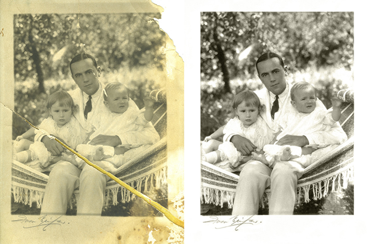 """Fully featured photo restoration software like Photoshop - and """"GIMP"""" - with practice can help you perform miracles with damaged images"""