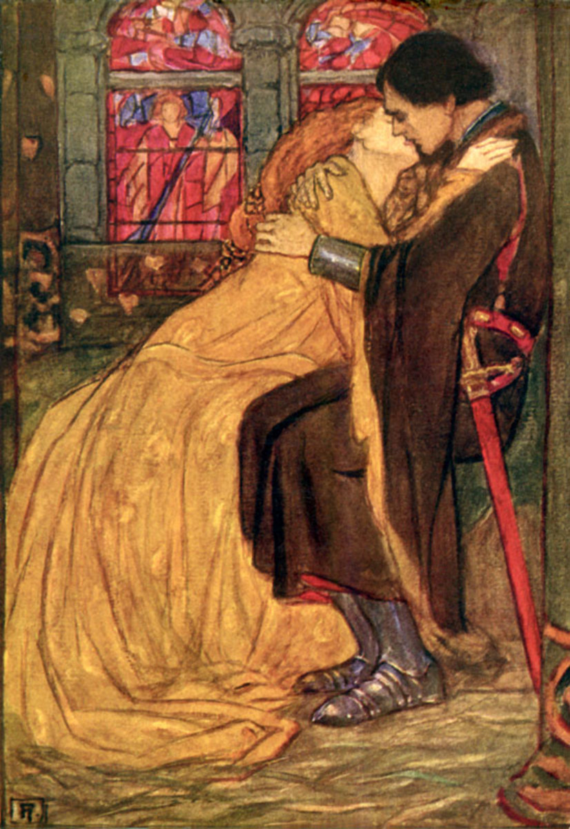 "Florence Harrison - Illustration to Tennyson's ""Guinevere"""