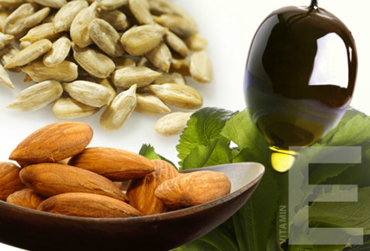 Vitamin E is Found in Nuts, Seeds, Spinach
