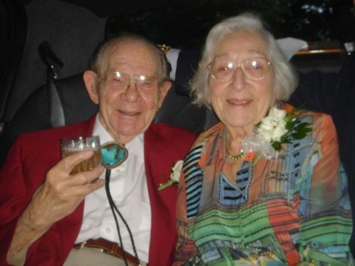 This picture was taken on their 65th anniversary. Dad died 10 months later.