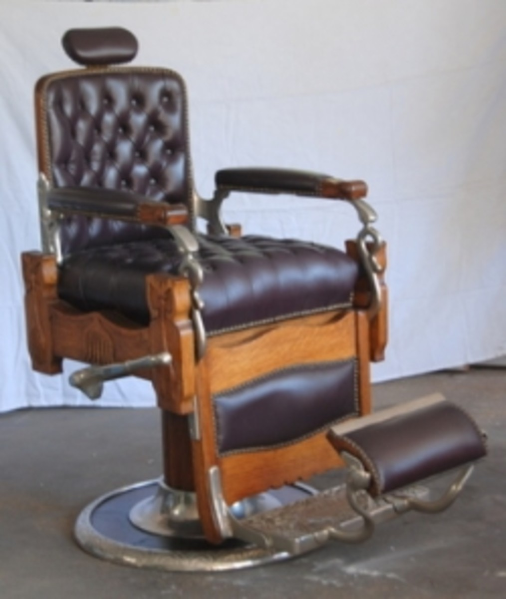 Antique Koken Barber Chairs