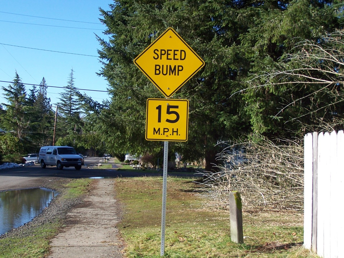 One of many signs ignored daily by drivers in Olympia.
