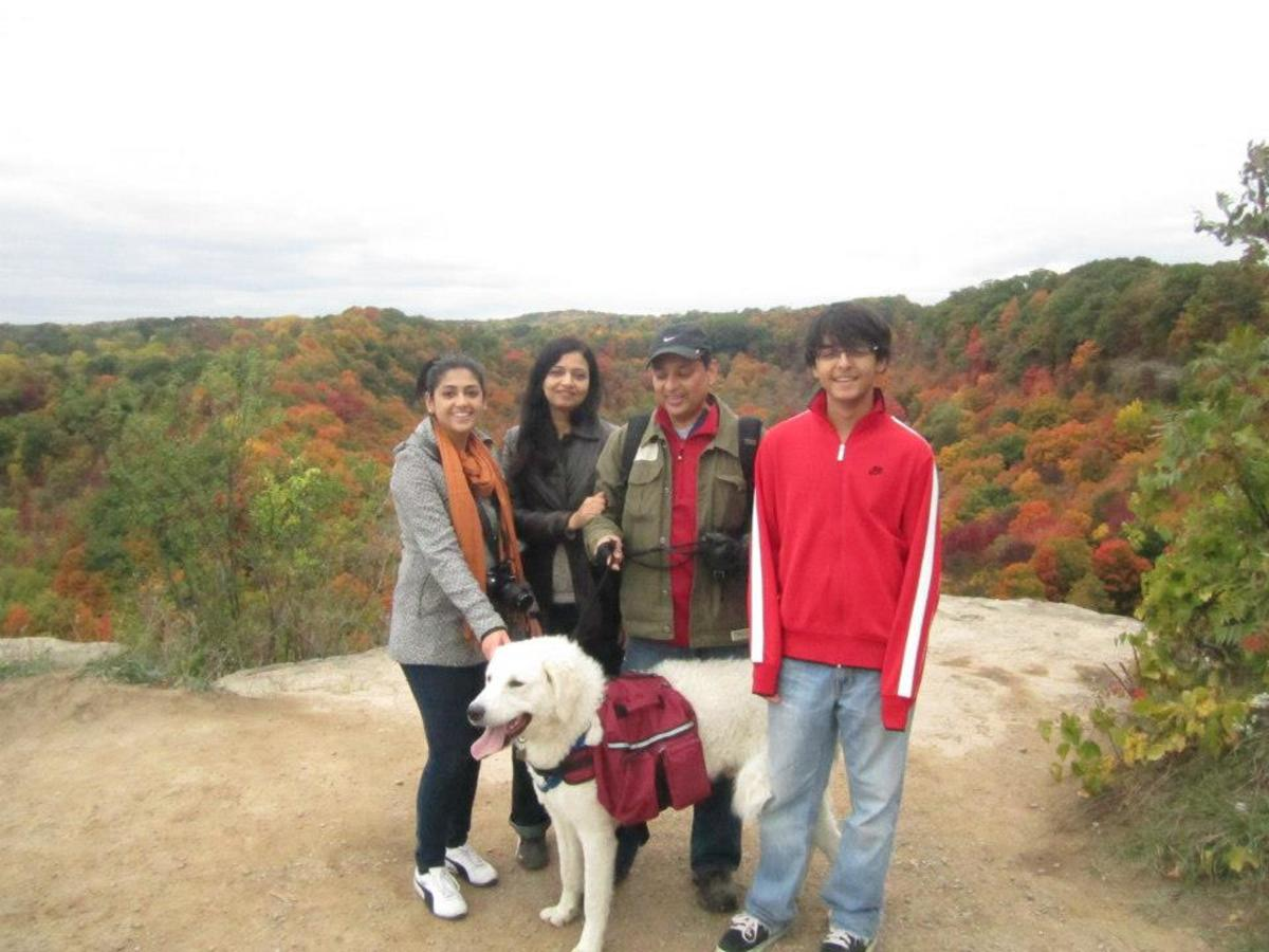 Hiking in the fall season.