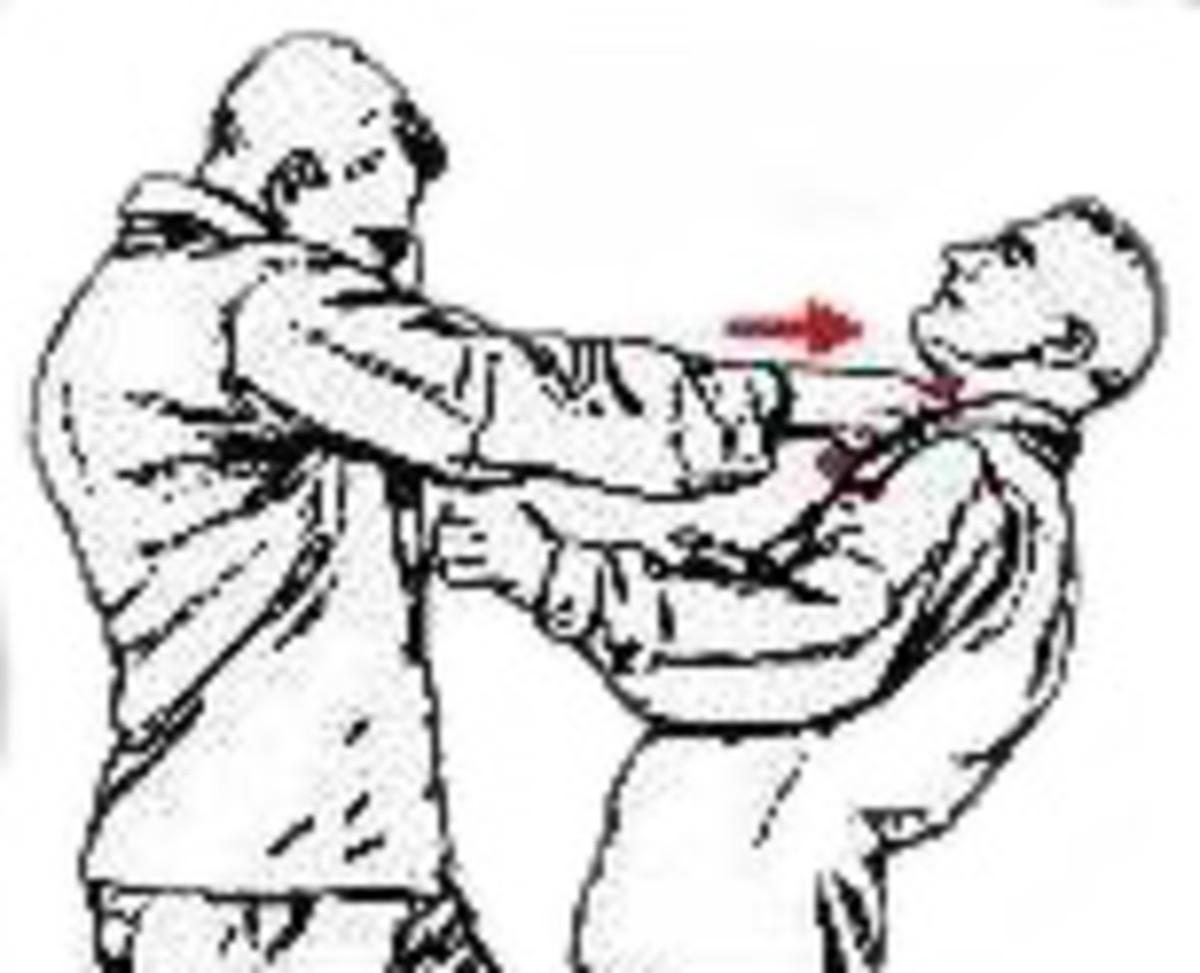 A Yawara strike on the throat area