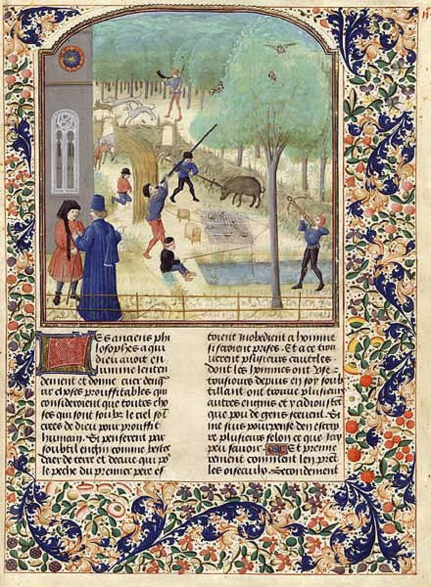 Italian manuscript with illustration of a blowgun