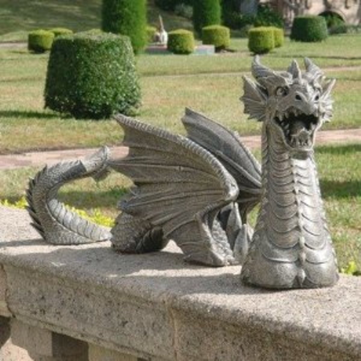 The Dragon of Falkenberg Castle Moat by Design Toscano