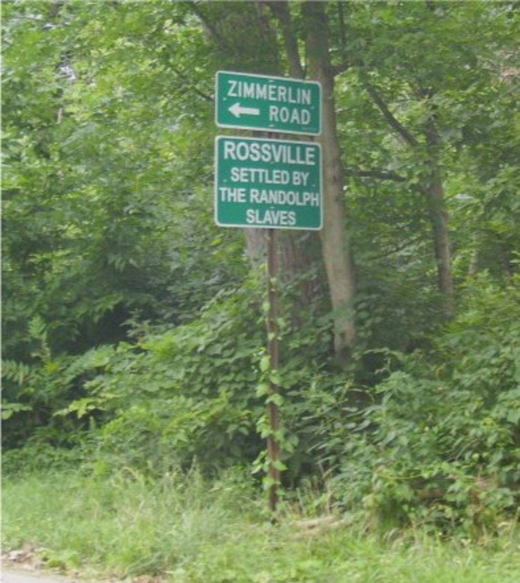 Present day sign, showing the location of Rossville and Jackson Cemetery in Piqua, Ohio