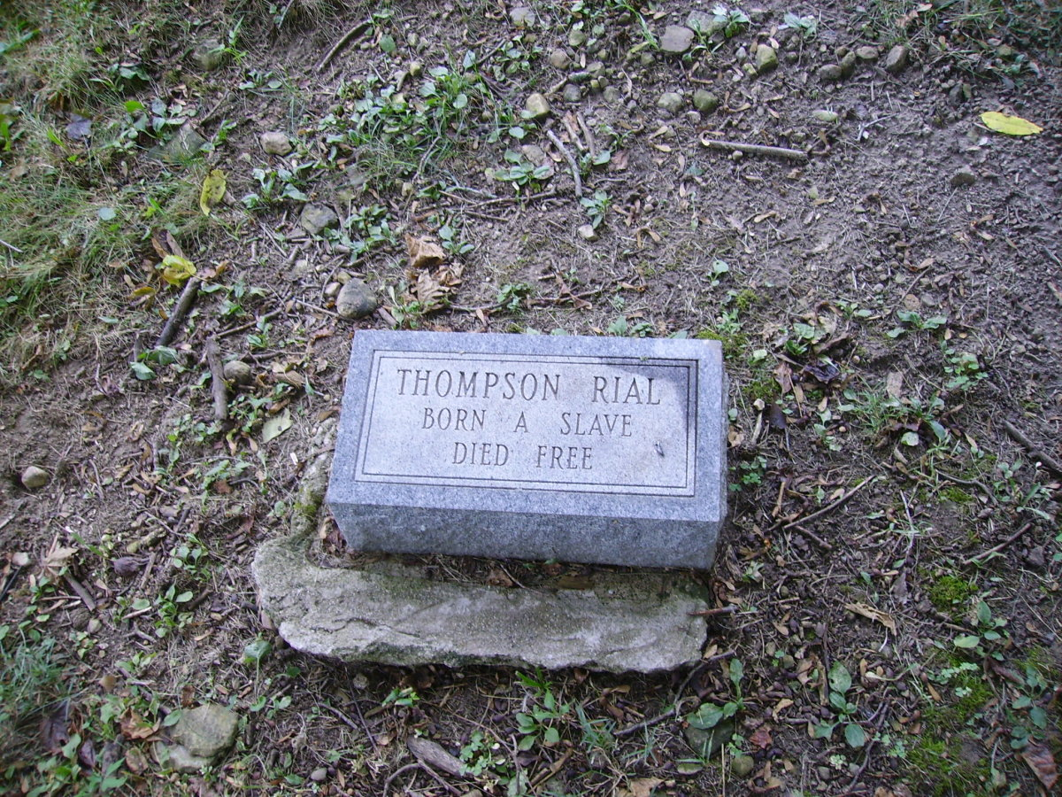 Headstone in African-Jackson Cemetery in Rossville