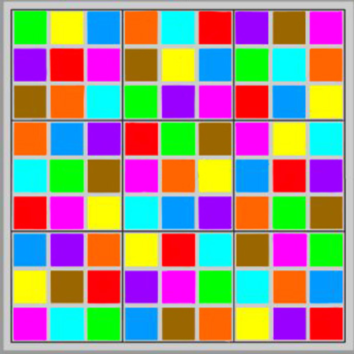 Play Color Sudoku now for free!