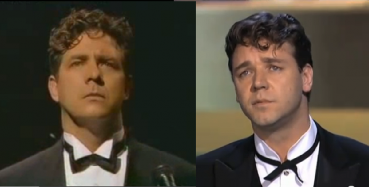 Philip Quast and Russell Crowe