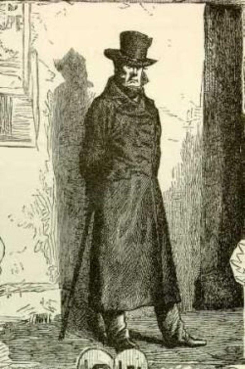 Javert Illustration from Les Miserables by Victor Hugo