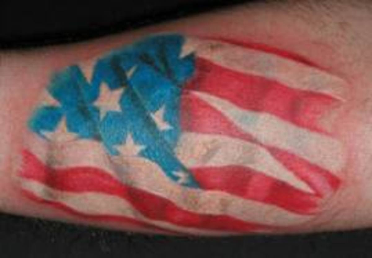 Flag Tattoos And Meanings-Flag Tattoo Designs And Ideas-Flag Tattoo Pictures