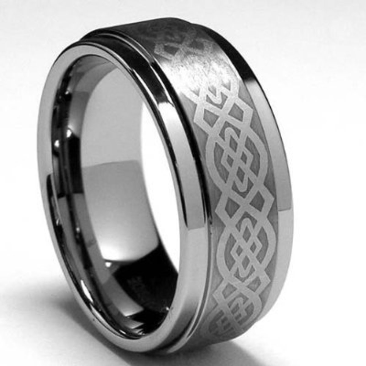 Metal Masters Co. 8MM Men's Tungsten Carbide Ring with Celtic Design