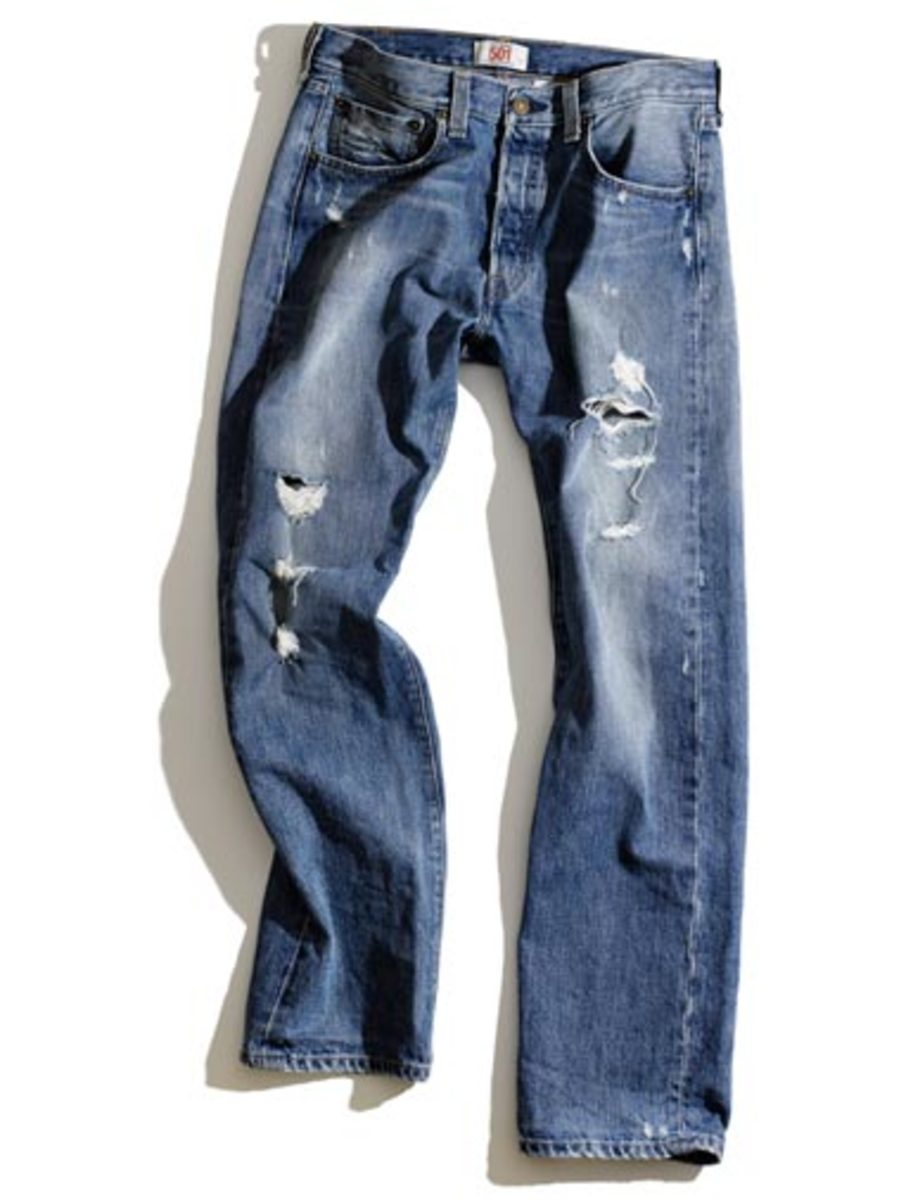 """has that treasured pair of comfy jeans gone from """"broke-in"""" to just plain broke?"""