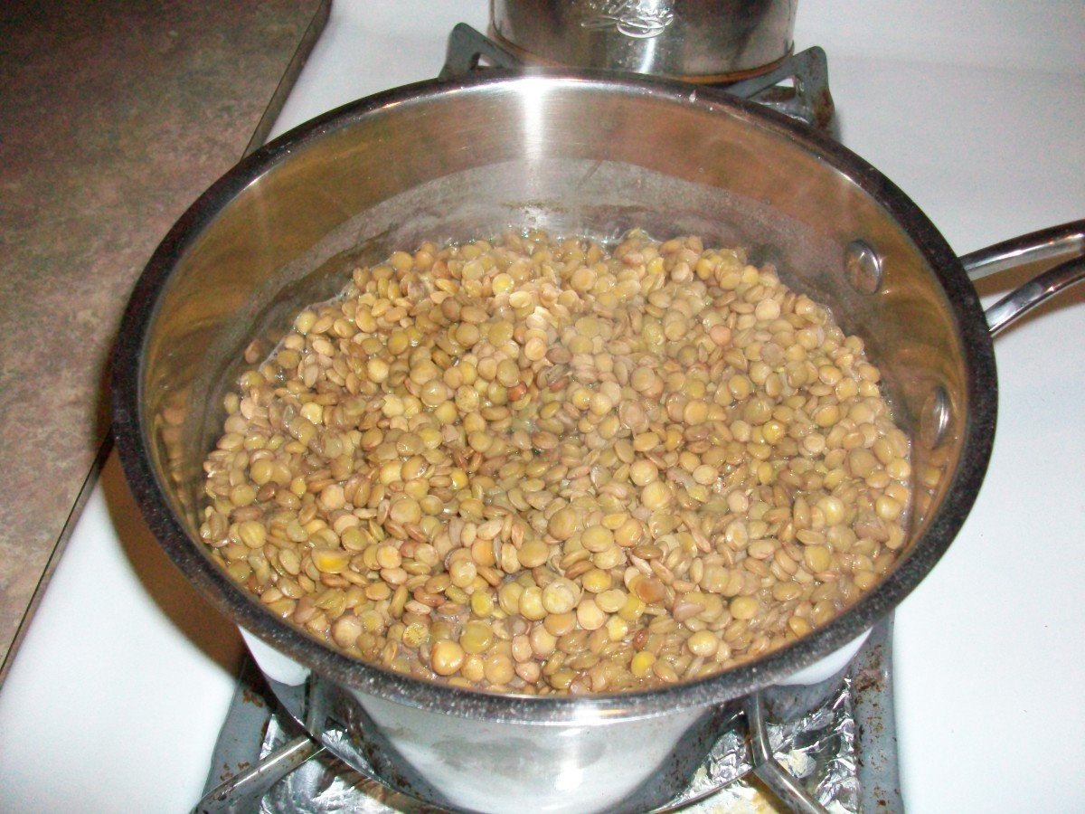 When the lentils are ready, almost all the water will have boiled away.