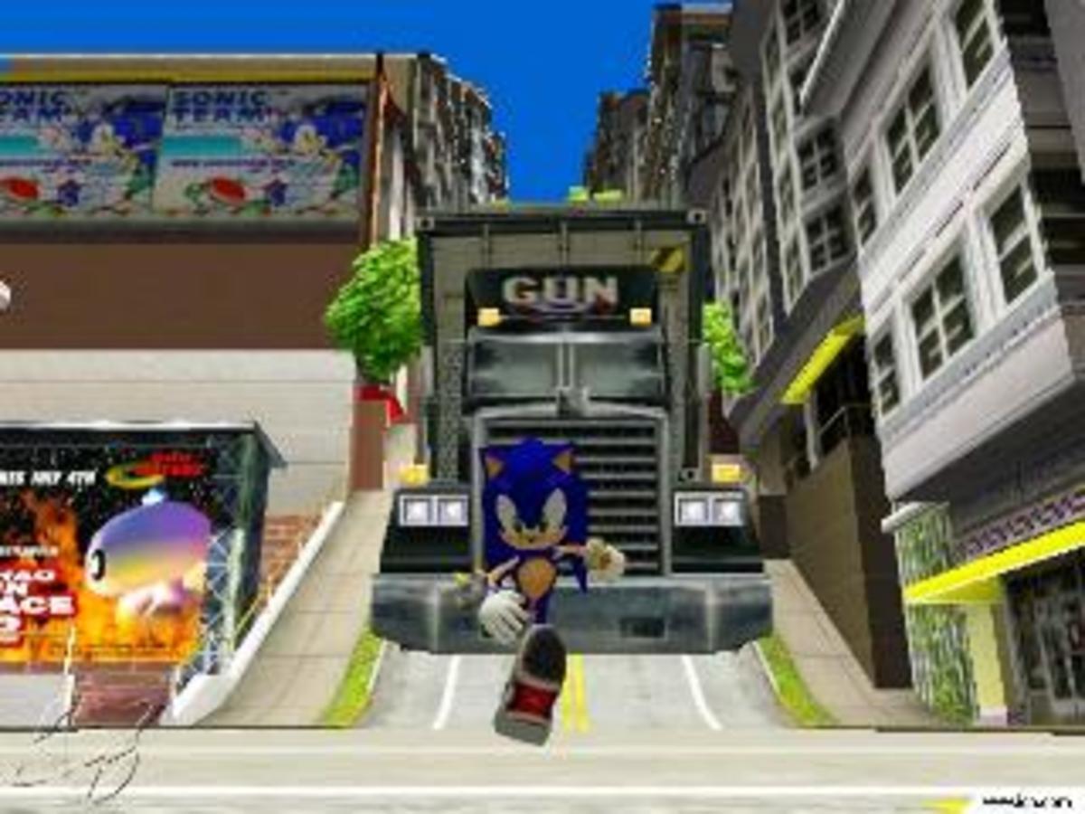 Sonic vs. Optimus Prime (just kidding)