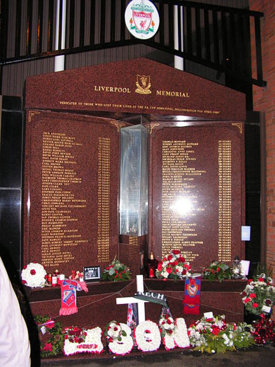 The Hillsborough Memorial, a living flame in honour of the 96 innocent souls lost. YNWA