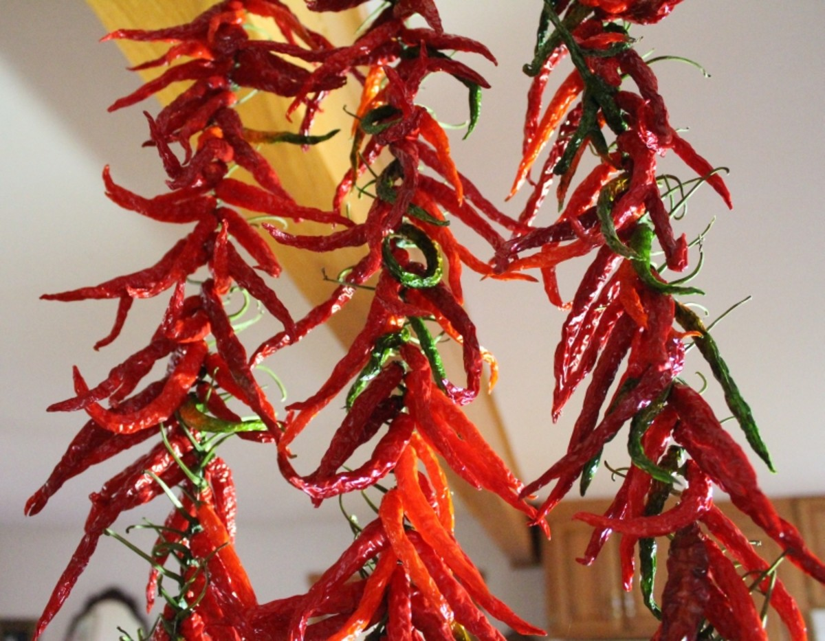 You can string up your cayenne pepper and let it dry hanging up on the strings.