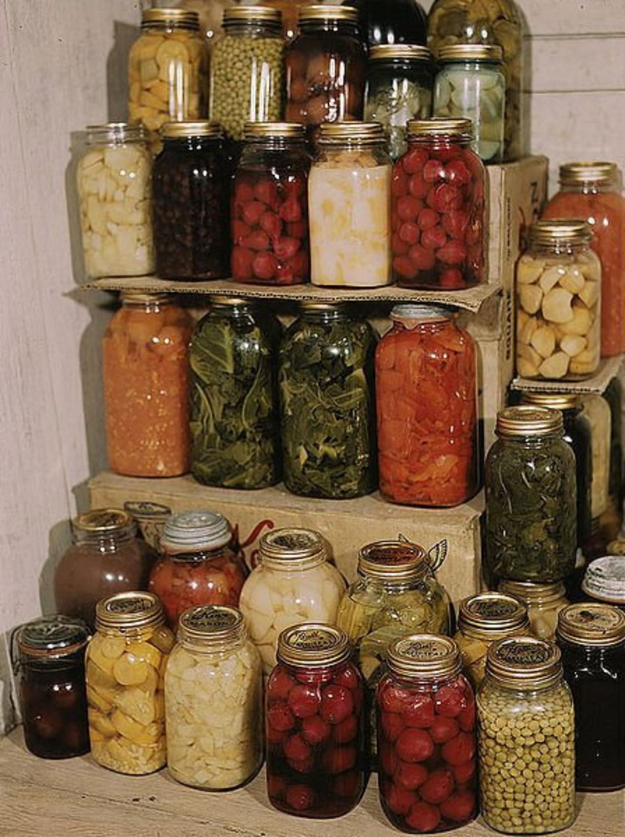 Home Canning Preserves Your Fruits And Vegetables and allows you to use your fruits and vegetables deep in the winter when the snow is piled up.