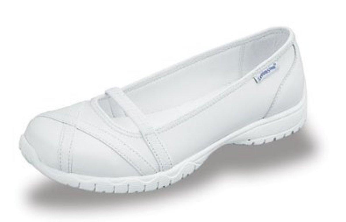 all white nursing shoe