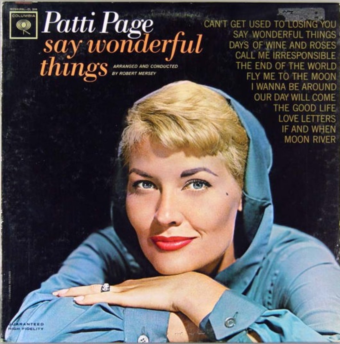 Patti Page covered the song in her debut album Say Wonderful Things (1963)