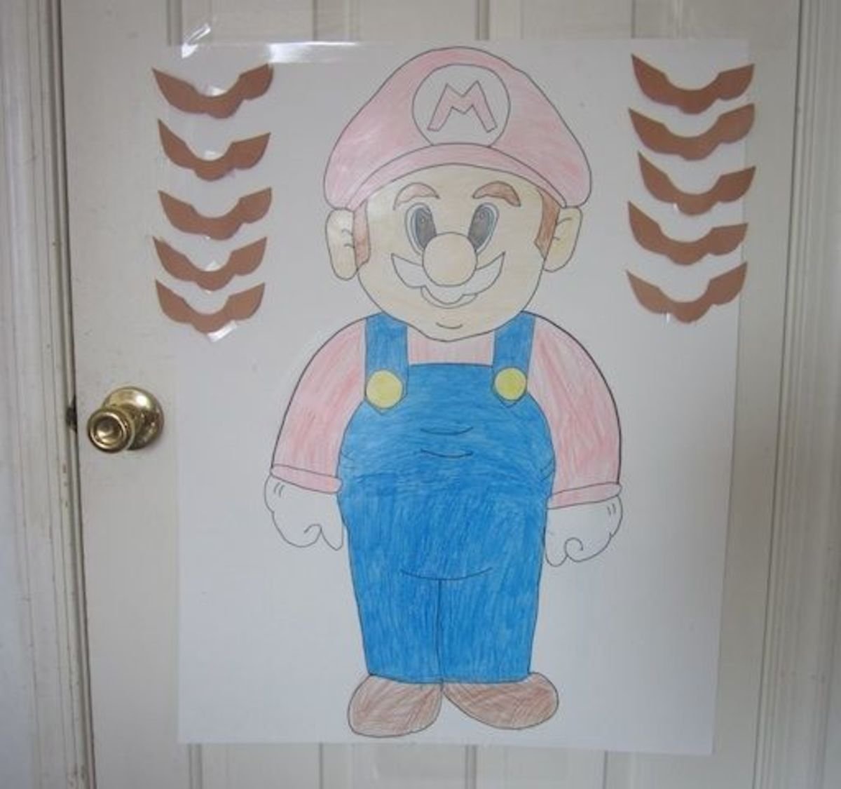 Game  Pin the Mustache on Mario - Another easy game to make 76b36825acc8