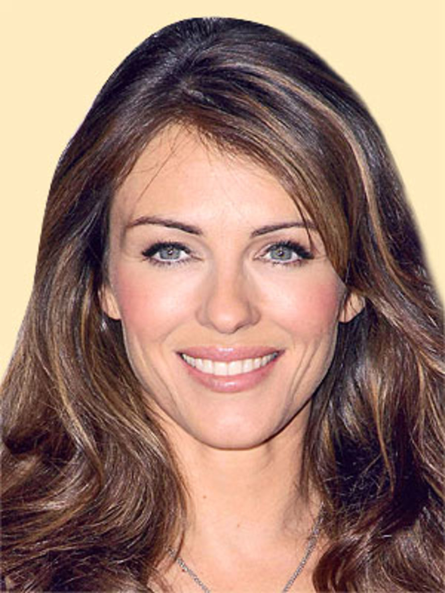 Elizabeth Hurley: Model with symmetrical facial features